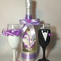 Rózsa esküvői  szett 3., Esküvő, Esküvői dekoráció, Egyedi díszítéssel ellátott esküvői álom szett.  Szerelmes pároknak eljegyzésre, esküvőre vagy egyéb..., Meska