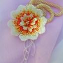 Lángvirág nyaklánc - Kombinálható medál résszel, Vidám, élénk színeket választottam ehhez a ny...