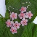 Cseresznyevirág - Lógós fülbevaló, Leginkább a japán cseresznye virágaira emlékez...
