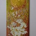 Akril festmény-modern falikép-Aranyos gyöngyvessző, Képzőművészet, Otthon, lakberendezés, Festmény, Akril, Festészet, Aranyos gyöngyvessző  Ez a modern, ragyogó struktúrpasztával készült akril festményem, nagyon elegá..., Meska