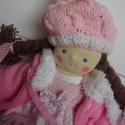 Waldorf baba, játékbaba, rongybaba, Baba-mama-gyerek, Játék, Baba játék, Játékfigura, Baba-és bábkészítés, Varrás, 35 cm-es ez a waldorf jellegű babám, mely öltöztethető, haja a copfja tövéig bontható., Meska
