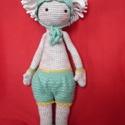 Tiszaparti Margitvirág horgolt sapkában, Játék, Baba játék, Játékfigura, A tiszaparti margitvirág ihlette babát készítettem csinos nadrágocskával, ami levehető, mint ..., Meska