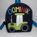 Hátizsák Zöld Traktoros - fiúknak, Baba-mama-gyerek, Táska, Hátizsák, Kék színű farmer hátizsák. Zöld színű Traktor rátéttel, filcből. Kék pamutvászon béléssel készült. N..., Meska
