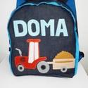 Traktor pótkocsival mintás hátizsák, Traktor mintás hátizsák   Óvodás, bölcsődé...
