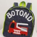 TŰZOLTÓS és GOMBÁS hátizsák, Tűzoltó autó mintás bölcsis hátizsák  És G...