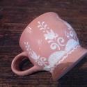 Kávés bögre, Konyhafelszerelés, Magyar motívumokkal, Bögre, csésze, A valóságban a bögre alapszíne kissé barnásabb árnyalatú. Átmérő:8cm. Magasság:7cm. Űrt..., Meska