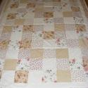 patchwork takaró apró kockákból, pasztell színekből, Otthon, lakberendezés, Lakástextil, Takaró, ágytakaró, Egyedi készítésű takaró méret:200x150cm Ez a takaró alkalmas ágy letakarására és takaróz..., Meska