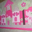 Palotás patchwork falvédő, Otthon, lakberendezés, Lakástextil, Falvédő,  Mérete: 160x90cm.   Ha más színben, vagy méretben kérnéd, írd meg. , Meska