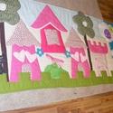 patchwork falvédő,takaró, vidéki hangulat, Otthon, lakberendezés, Lakástextil, Takaró, ágytakaró, Varrás, Patchwork, foltvarrás, méret:210x90cm Ez a takaró alkalmas ágy letakarására és takarózásra is.  Az anyagot varrás előtt ki..., Meska