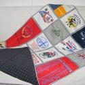 Patchwork takaró egyedi pólókból, Otthon, lakberendezés, Lakástextil, Falvédő, Takaró, ágytakaró, Varrás, Patchwork, foltvarrás,  méret: 200x130cm Ez a takaró az általad előkészített pólóból, vagy rugdalózóból készülne. Alkalmas..., Meska