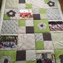 Fényképes patchwork takaró, Otthon, lakberendezés, Lakástextil, Takaró, ágytakaró, méret:200x140cm Ez a takaró alkalmas ágy letakarására és takarózásra is. Az anyagot varrás ..., Meska