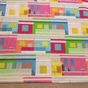 Ikeás design takaró, falvédő zöld-pink-kék