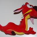 Mushu plüss sárkány, Játék, Mindenmás, Plüssállat, rongyjáték, A Mulan című rajzfilmből ismert sárkány, Mushu bébi kori verziója puha plüssből.  Mushu kb. 25 cm ho..., Meska