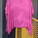 Puncs poncsó, Ruha, divat, cipő, Női ruha, Poncsó, Festett tárgyak, Varrás, A puncs nem csak egy rózsaszín máz... Most például egy rendhagyó ruha színe: nyári poncsó,most söté..., Meska
