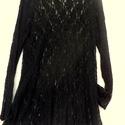 Csupa csipke, Ruha, divat, cipő, Női ruha, Ruha, Varrás, Fekete,áttetsző,rugalmas csipkéből készült hosszú ujjas tunika, finom esésének és sötét színének  k..., Meska