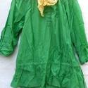 Zöldike, Ruha, divat, cipő, Női ruha, Felsőrész, póló, Blúz, Varrás, Festett tárgyak, Vékony,ing vászonból,batikolt festésű blúz. Derék alatt gumisra fűzve,ujjak végéi szintén. Méret:S-..., Meska