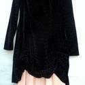Réteges átmeneti, Ruha, divat, cipő, Női ruha, Ruha, A szeszélyes időjáráshoz alkalmazkodó, őszi viselet,ami két ruhát tartalmaz: fekete,nyomott mintás h..., Meska