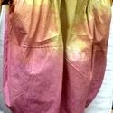 Színes napok, Ruha, divat, cipő, Női ruha, Szoknya, Varrás, Foltberakás, Mustár-terrakotta színekkel készítettem ezt a vászon,hagyma szoknyát: Gumis derékkal,oldalt zsebekk..., Meska