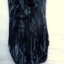 Absztrakt tunika, Ruha, divat, cipő, Női ruha, Ruha, Foltberakás, Varrás, Szürke,fekete-fehér mintás tunika,különc stílusban:ujjatlan hosszú ruha,nyak eleje lazán ejtett. Al..., Meska