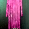 Rózsaszín barack, Ruha, divat, cipő, Női ruha, Ruha, Hosszú,batikolt,pamut tunika és barack színnel festett ujjatlan pamutgéz ruha,egyenes vonalú sz..., Meska