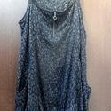 Black stone -Bakancsos ruha, Ruha, divat, cipő, Női ruha, Ruha, Kendő, sál, sapka, kesztyű, Festett tárgyak, Foltberakás, Fekete kavics (kő) mintás,pamut anyagú kötény ruha,két zsebbel ,cipzáros nyakrésszel. Vállnál fűzni..., Meska