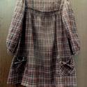 Jozefina, Ruha, divat, cipő, Női ruha, Ruha, Barna kocka mintás anyagból, Kreppvászon ruha-tunika,mellrésznél tégla alakban kivágott,gumírozott. ..., Meska