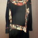 AKCIÓ!/ Szelíd mosoly, Ruha, divat, cipő, Női ruha, Felsőrész, póló, Foltberakás, Mindenmás, Hétvégi AKCIÓ! (Február 23-24) -1000 Ft kedvezménnyel vihető a tunika !  Fekete póló anyagból,folt ..., Meska