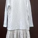 Angelika, Fehér,kötött anyagú pulóver,belülre pólóan...