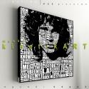 kép: Jim Morrison: Tipográfia, Dekoráció, Képzőművészet, Kép, Grafika, Fotó, grafika, rajz, illusztráció, Mindenmás, P55 - jimoTIPO   jim morrison: Tipográfia.1   P55 pictures: Akril felületű faforgácslapra, vinyl te..., Meska