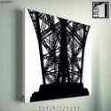 kép: Eiffel torony - No.1, Dekoráció, Képzőművészet, Kép, Grafika, Fotó, grafika, rajz, illusztráció, Mindenmás, P55 - archEIF1 Eiffel torony No.1   P55 pictures: Akril felületű faforgácslapra, vinyl technikával ..., Meska