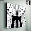kép: Brooklyn Bridge No.2, Dekoráció, Képzőművészet, Kép, Grafika, Fotó, grafika, rajz, illusztráció, Mindenmás, P55 - archBRB2 brooklyn bridge No.2   P55 pictures: Akril felületű faforgácslapra, vinyl technikáva..., Meska