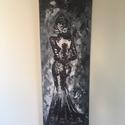 The woman -akril festmény, Képzőművészet, Festmény, Akril, Festészet, 20x60 cm-es feszített vászonra készült akril festmény. Nem igényel külön keretezést.  Az elegáns, k..., Meska