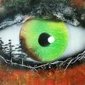 Erdei rém, Képzőművészet, Festmény, Akril, Festészet, A3-as méretű akril spray technikával fotópapírra készített festmény, Meska