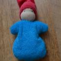 Piros-kék waldorf marok manó , Puha kis manó a legkisebbeknek!  Teste puha gyapj...