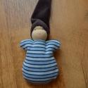 Csíkos ruhás waldorf marok manó , Puha kis manó a legkisebbeknek!  Teste puha gyapj...