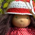 Panni - Waldorf lány öltöztetős baba, Panni kb. 35 cm-es öltöztethető baba. Hosszú b...