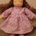 Waldorf lány öltöztetős baba Eszter és Richárd kérésére,  Kb. 30 cm magas, öltöztetős baba. Természetes...