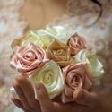 Esküvői örökcsokor, Esküvő, Menyasszonyi- és dobócsokor, Menyasszonyi- és dobócsokor, Mindenmás, (A megjelölt ár 1 rózsaszálra vonatkozik)  A képen látható csokor 13 szál rózsából áll, rosegold té..., Meska