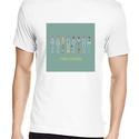 Life Aquatic póló, Pixel art póló, Egyedi póló, Férfiaknak, Táska, Divat & Szépség, Urban pólók, Ruha, divat, Férfi ruha, Női ruha, Póló, felsőrész, Fotó, grafika, rajz, illusztráció, A mintán Wes Anderson 2004-es klasszikusának szereplői. A letisztult, általam tervezett pixel art m..., Meska