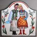 Esküvői ajándék tábla, Dekoráció, Magyar motívumokkal, Otthon, lakberendezés, Utcatábla, névtábla, Mdf falemezre felvitt nász jelenet,. Ajánlott: esküvőre, nászajándékba. saját tervezés és kivitelezé..., Meska