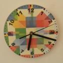 Modern óra, Otthon, lakberendezés, Ékszer, Falióra, óra, Modern mintás falióra.  Méret: 25 cm átmérő, de nagyobb kivitelben is kérhető.  Óraszerkezet folyama..., Meska