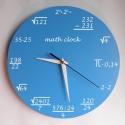 Matematika falióra, Otthon, lakberendezés, Ékszer, Dekoráció, Falióra, óra, Saját tervezésű falióra. Önálló grafikai tervezés és kivitelezés, beleértve a kivágást is. Téma: mat..., Meska
