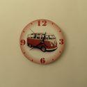 VW busz falióra, Otthon, lakberendezés, Dekoráció, Falióra, óra, VW busz falióra. A busz az autógyártás ikonikus darabja. TYP-2 típus. Gyártási idő: 1950-1967.  Az ó..., Meska