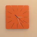 Falióra - bevágott időpontokkal., Otthon, lakberendezés, Dekoráció, Ékszer, Falióra, óra, Egyedi tervezésű falióra. Az óralap 30 cm átmérőjű. Fehér és narancsszínű változat is kapható, de bá..., Meska
