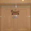 Fürdőszoba tábla, Dekoráció, Otthon, lakberendezés, Dísz, Ajtódísz, kopogtató, Ez a dísztábla kiakasztható a fürdőszoba ajtóra, vagy akár magába a fürdőszobába. A tábla anyaga műa..., Meska