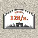 Házszámtábla, Dekoráció, Otthon, lakberendezés, Dísz, Utcatábla, névtábla, A házszámtábla utal az utca elnevezésére. Vagyis a Berlin  házszámtábla berlini látképet ábrázol az ..., Meska