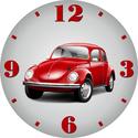 VW bogár autós óra, Otthon, lakberendezés, Dekoráció, Falióra, óra, Saját tervezésű falióra. Önálló grafikai tervezés és kivitelezés, beleértve a kivágást is. Téma: Kla..., Meska