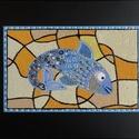 halas falikép, Dekoráció, Otthon, lakberendezés, Dísz, Falikép, Halacska különleges dekorációs ábrázolása. A kivitelezés roppant aprólékos, több napot vesz igénybe...., Meska