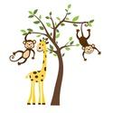 Falmatrica, Dekoráció, Otthon, lakberendezés, Falmatrica, A falmatricán aranyos majmocskák vannak egy oroszlán társaságában Létezik jobbos, illetve balos vált..., Meska