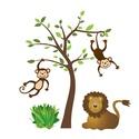 Majmos - oroszlános falmatrica, Dekoráció, Otthon, lakberendezés, Falmatrica, Majmos- oroszlános falmatrica. Saját tervezésű grafika.- Vinyl alapanyagra nyomtatva.  Felragaszthat..., Meska